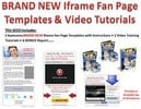 Thumbnail Facebook Fanpage Marketing  Resale Fanpage iFrame Templates