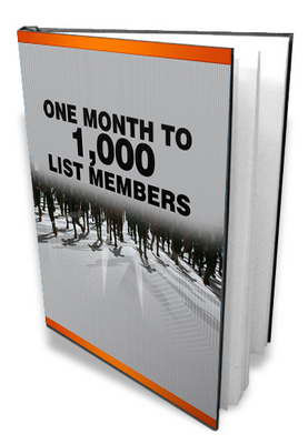 Product picture 1 Month to 1000 List Members - With Master Resell Rights