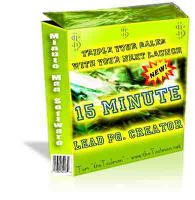 Product picture 15 Minute Lead Page Creator with Master Resale Rights