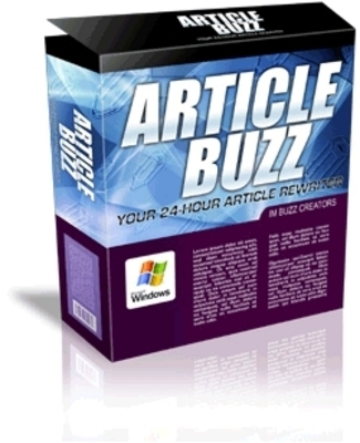 Product picture Article Buzz Rewriter & Unique Content Creator with MRR