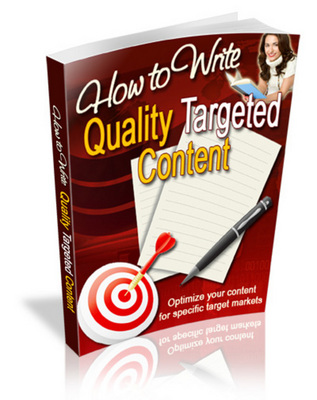 Product picture How To Write Quality Targeted Content With MRR