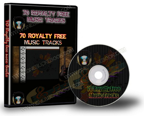 Product picture 70 Royalty Free Music Tracks with PLR