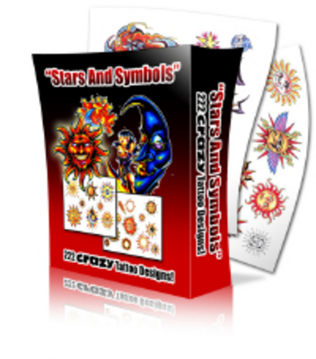 Product picture Stars Tattoos with MRR