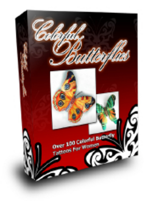 Product picture Colorful Butterfly Tattoos with MRR